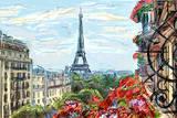 Street in Paris - Illustration Fotografisk trykk av  ZoomTeam