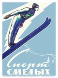 Sport of the Brave - Skiing in Russia Posters por Leonid Tutrumov