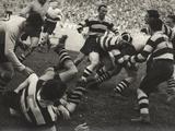 Le match de rugby Reproduction photographique par Luigi Leoni