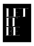 Let it Be Black Láminas por  NaxArt