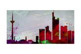 Frankfurt City Skyline Poster von  NaxArt