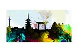 Kyoto City Skyline Poster von  NaxArt