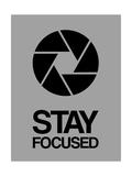 Stay Focused Circle 3 Giclée-Premiumdruck von  NaxArt