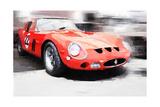 1962 Ferrari 250 GTO Watercolor Affiches par  NaxArt