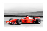 Ferrari F1 Laguna Seca Watercolor Kunstdruck von  NaxArt
