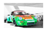 Porsche 911 Turbo Watercolor Poster by  NaxArt