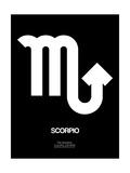 Scorpio Zodiac Sign White Prints by  NaxArt
