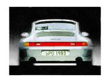 1993 Porsche 911 Rear Watercolor Posters af  NaxArt