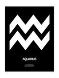 Aquarius Zodiac Sign White Prints by  NaxArt