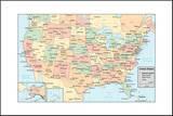 United States Of America Map Pohjustettu vedos tekijänä  rook