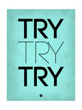 Try Try Try Blue Stampa di  NaxArt
