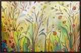 Welcome to My Garden Impressão em tela emoldurada por Jennifer Lommers
