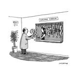 """Drone check"" - Cartoon Reproduction giclée Premium par Joe Dator"