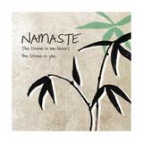 Namaste Poster von Linda Woods
