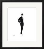 Male Fashion Figure, c. 1960 Impressão giclée emoldurada por Andy Warhol