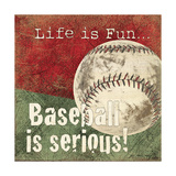 Baseball Print by Jo Moulton