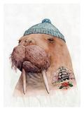 Tattooed Walrus Kunstdrucke von  Animal Crew