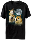 Doge - Three Doge Moon Camiseta