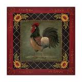 Sunflower Rooster II Poster di Jo Moulton