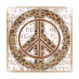 Peace Leopard Print by Jennifer Pugh