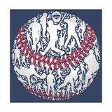 Baseball Kunst von Jim Baldwin