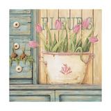 Fleurs Print by Jo Moulton