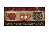 Cappuccino Café Kunstdruck von Jennifer Pugh