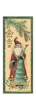Santa with Tree Prints by Anita Phillips