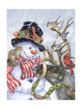 Frosty, Prancer, and Friends Prints by Donna Race