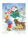 Frosty Morning Greeting Prints by Donna Race