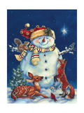 Jolly Snowman Print by Donna Race