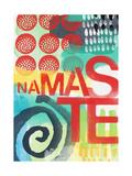 Abstract Namaste Poster par Linda Woods
