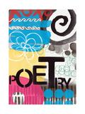 Abstract Poetry Kunstdrucke von Linda Woods