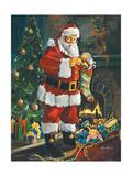 Sneaking Santa Posters by Susan Comish