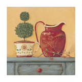 Red Vase Posters by Jo Moulton