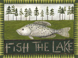 Fish the Lake Premium Giclee Print by Cindy Shamp