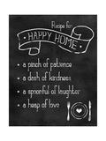 Happy Home Recipe Posters av Anna Quach
