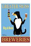 Greater Swiss Breweries Giclée-tryk af Ken Bailey