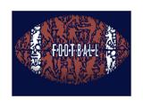 Football américain Affiche par Jim Baldwin