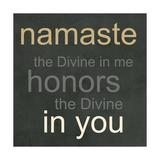 Namaste Affiche par Linda Woods