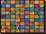Klimt Squares キャンバスプリント : グスタフ・クリムト