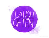 Reír a  menudo Lámina giclée por Jeanne Stevenson