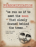 Personification (Quote from Going for Water by Robert Frost) Prints by Jeanne Stevenson