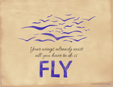 All You Have to Do is Fly Lámina giclée por Jeanne Stevenson