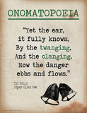 Onomatopoeia (Quote from The Bells by Edgar Allan Poe) Posters par Jeanne Stevenson