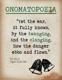 Onomatopoeia (Quote from The Bells by Edgar Allan Poe) Poster von Jeanne Stevenson