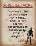 Foreshadowing (Quote from Frankenstein by Mary Shelley) Kunstdruck von Jeanne Stevenson