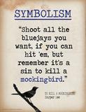 Symbolism (Quote from To Kill a Mockingbird by Harper Lee) Kunstdrucke von Jeanne Stevenson