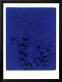 Blaues Schwammrelief (Relief Éponge Bleu: RE19), 1958 Posters por Yves Klein