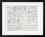 Score for the 3rd Movement of the 5th Symphony Framed Giclee Print by Ludwig Van Beethoven
